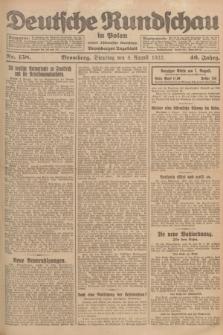 Deutsche Rundschau in Polen : früher Ostdeutsche Rundschau, Bromberger Tageblatt. Jg.46, Nr. 158 (8 August 1922) + dod.