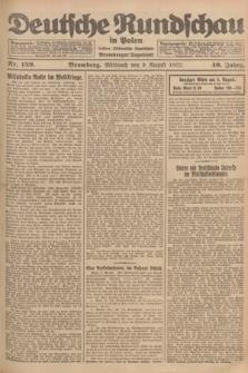 Deutsche Rundschau in Polen : früher Ostdeutsche Rundschau, Bromberger Tageblatt. Jg.46, Nr. 159 (9 August 1922) + dod.