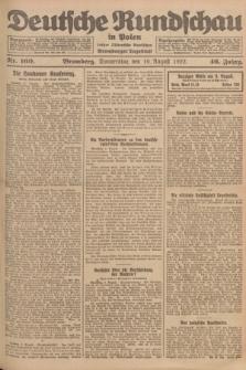 Deutsche Rundschau in Polen : früher Ostdeutsche Rundschau, Bromberger Tageblatt. Jg.46, Nr. 160 (10 August 1922) + dod.