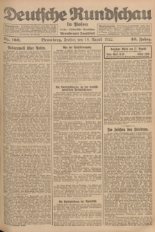 Deutsche Rundschau in Polen : früher Ostdeutsche Rundschau, Bromberger Tageblatt. Jg.46, Nr. 166 (18 August 1922) + dod.