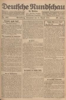 Deutsche Rundschau in Polen : früher Ostdeutsche Rundschau, Bromberger Tageblatt. Jg.46, Nr. 167 (19 August 1922) + dod.