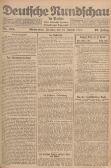 Deutsche Rundschau in Polen : früher Ostdeutsche Rundschau, Bromberger Tageblatt. Jg.46, Nr. 168 (20 August 1922) + dod.