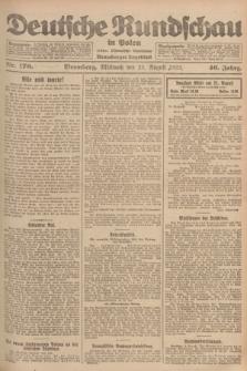 Deutsche Rundschau in Polen : früher Ostdeutsche Rundschau, Bromberger Tageblatt. Jg.46, Nr. 170 (23 August 1922) + dod.