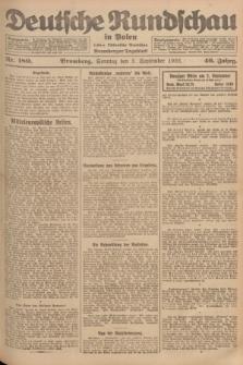 Deutsche Rundschau in Polen : früher Ostdeutsche Rundschau, Bromberger Tageblatt. Jg.46, Nr. 180 (3 September 1922) + dod.