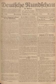 Deutsche Rundschau in Polen : früher Ostdeutsche Rundschau, Bromberger Tageblatt. Jg.46, Nr. 182 (6 September 1922) + dod.
