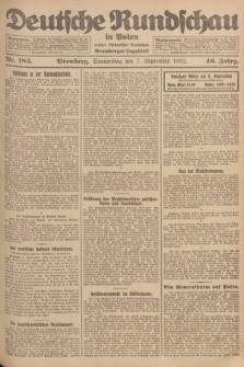 Deutsche Rundschau in Polen : früher Ostdeutsche Rundschau, Bromberger Tageblatt. Jg.46, Nr. 183 (7 September 1922) + dod.