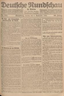 Deutsche Rundschau in Polen : früher Ostdeutsche Rundschau, Bromberger Tageblatt. Jg.46, Nr. 184 (8 September 1922) + dod.