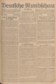 Deutsche Rundschau in Polen : früher Ostdeutsche Rundschau, Bromberger Tageblatt. Jg.46, Nr. 185 (9 September 1922) + dod.