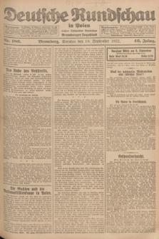 Deutsche Rundschau in Polen : früher Ostdeutsche Rundschau, Bromberger Tageblatt. Jg.46, Nr. 186 (10 September 1922) + dod.