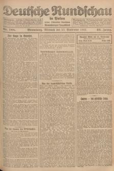 Deutsche Rundschau in Polen : früher Ostdeutsche Rundschau, Bromberger Tageblatt. Jg.46, Nr. 188 (13 September 1922) + dod.