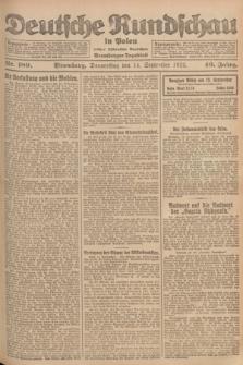 Deutsche Rundschau in Polen : früher Ostdeutsche Rundschau, Bromberger Tageblatt. Jg.46, Nr. 189 (14 September 1922) + dod.