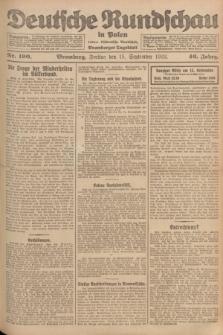 Deutsche Rundschau in Polen : früher Ostdeutsche Rundschau, Bromberger Tageblatt. Jg.46, Nr. 190 (15 September 1922) + dod.