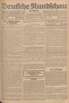 Deutsche Rundschau in Polen : früher Ostdeutsche Rundschau, Bromberger Tageblatt. Jg.46, Nr. 191 (16 September 1922) + dod.