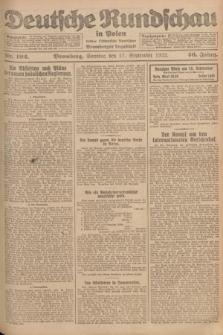 Deutsche Rundschau in Polen : früher Ostdeutsche Rundschau, Bromberger Tageblatt. Jg.46, Nr. 192 (17 September 1922) + dod.