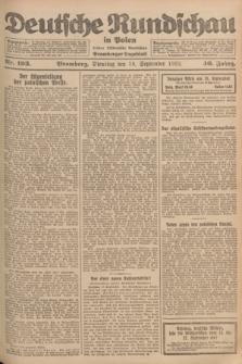 Deutsche Rundschau in Polen : früher Ostdeutsche Rundschau, Bromberger Tageblatt. Jg.46, Nr. 193 (19 September 1922) + dod.