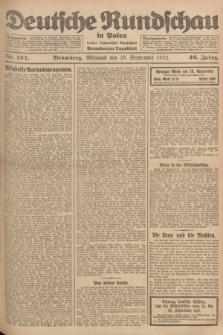 Deutsche Rundschau in Polen : früher Ostdeutsche Rundschau, Bromberger Tageblatt. Jg.46, Nr. 194 (20 September 1922) + dod.