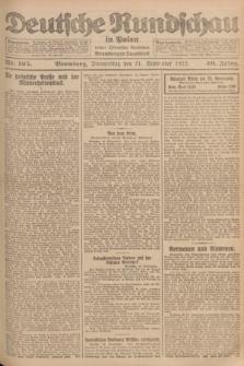 Deutsche Rundschau in Polen : früher Ostdeutsche Rundschau, Bromberger Tageblatt. Jg.46, Nr. 195 (21 September 1922) + dod.