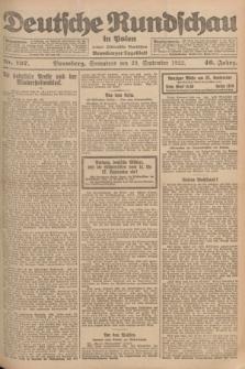 Deutsche Rundschau in Polen : früher Ostdeutsche Rundschau, Bromberger Tageblatt. Jg.46, Nr. 197 (23 September 1922) + dod.