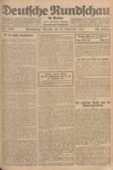 Deutsche Rundschau in Polen : früher Ostdeutsche Rundschau, Bromberger Tageblatt. Jg.46, Nr. 199 (26 September 1922) + dod.