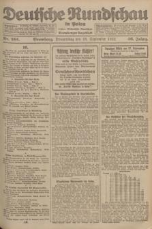 Deutsche Rundschau in Polen : früher Ostdeutsche Rundschau, Bromberger Tageblatt. Jg.46, Nr. 201 (28 September 1922) + dod.