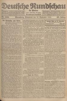 Deutsche Rundschau in Polen : früher Ostdeutsche Rundschau, Bromberger Tageblatt. Jg.46, Nr. 203 (30 September 1922) + dod.