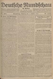 Deutsche Rundschau in Polen : früher Ostdeutsche Rundschau, Bromberger Tageblatt. Jg.46, Nr. 205 (3 Oktober 1922) + dod.