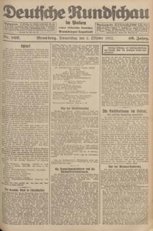 Deutsche Rundschau in Polen : früher Ostdeutsche Rundschau, Bromberger Tageblatt. Jg.46, Nr. 207 (5 Oktober 1922) + dod.