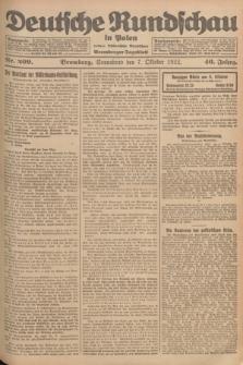 Deutsche Rundschau in Polen : früher Ostdeutsche Rundschau, Bromberger Tageblatt. Jg.46, Nr. 209 (7 Oktober 1922) + dod.