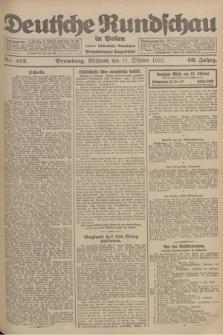 Deutsche Rundschau in Polen : früher Ostdeutsche Rundschau, Bromberger Tageblatt. Jg.46, Nr. 212 (11 Oktober 1922) + dod.