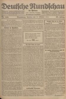 Deutsche Rundschau in Polen : früher Ostdeutsche Rundschau, Bromberger Tageblatt. Jg.46, Nr. 216 (15 Oktober 1922) + dod.