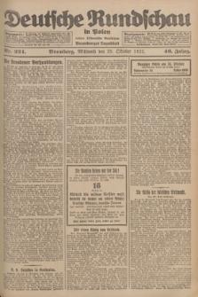 Deutsche Rundschau in Polen : früher Ostdeutsche Rundschau, Bromberger Tageblatt. Jg.46, Nr. 224 (25 Oktober 1922) + dod.