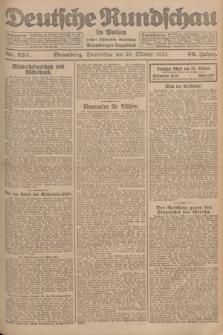 Deutsche Rundschau in Polen : früher Ostdeutsche Rundschau, Bromberger Tageblatt. Jg.46, Nr. 225 (26 Oktober 1922) + dod.