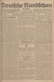 Deutsche Rundschau in Polen : früher Ostdeutsche Rundschau, Bromberger Tageblatt. Jg.46, Nr. 227 (28 Oktober 1922) + dod.