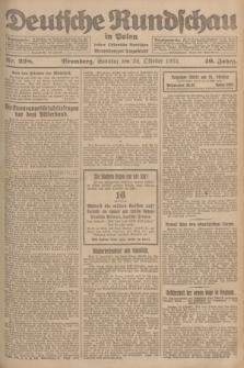 Deutsche Rundschau in Polen : früher Ostdeutsche Rundschau, Bromberger Tageblatt. Jg.46, Nr. 228 (29 Oktober 1922) + dod.