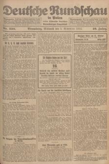 Deutsche Rundschau in Polen : früher Ostdeutsche Rundschau, Bromberger Tageblatt. Jg.46, Nr. 230 (1 November 1922) + dod.