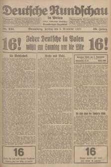 Deutsche Rundschau in Polen : früher Ostdeutsche Rundschau, Bromberger Tageblatt. Jg.46, Nr. 231 (3 November 1922) + dod.