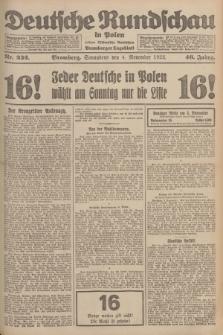 Deutsche Rundschau in Polen : früher Ostdeutsche Rundschau, Bromberger Tageblatt. Jg.46, Nr. 232 (4 November 1922) + dod.