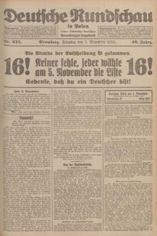 Deutsche Rundschau in Polen : früher Ostdeutsche Rundschau, Bromberger Tageblatt. Jg.46, Nr. 233 (5 November 1922) + dod.