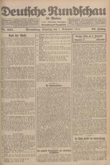 Deutsche Rundschau in Polen : früher Ostdeutsche Rundschau, Bromberger Tageblatt. Jg.46, Nr. 234 (7 November 1922) + dod.