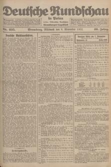 Deutsche Rundschau in Polen : früher Ostdeutsche Rundschau, Bromberger Tageblatt. Jg.46, Nr. 235 (8 November 1922) + dod.