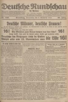 Deutsche Rundschau in Polen : früher Ostdeutsche Rundschau, Bromberger Tageblatt. Jg.46, Nr. 236 (9 November 1922) + dod.