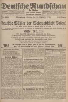 Deutsche Rundschau in Polen : früher Ostdeutsche Rundschau, Bromberger Tageblatt. Jg.46, Nr. 239 (12 November 1922) + dod.