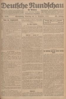 Deutsche Rundschau in Polen : früher Ostdeutsche Rundschau, Bromberger Tageblatt. Jg.46, Nr. 240 (14 November 1922) + dod.