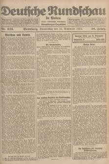 Deutsche Rundschau in Polen : früher Ostdeutsche Rundschau, Bromberger Tageblatt. Jg.46, Nr. 242 (16 November 1922) + dod.