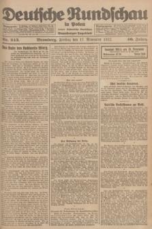 Deutsche Rundschau in Polen : früher Ostdeutsche Rundschau, Bromberger Tageblatt. Jg.46, Nr. 243 (17 November 1922) + dod.