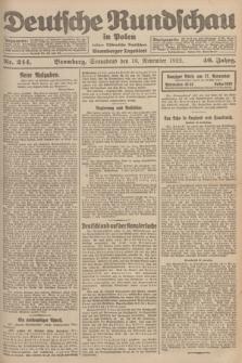 Deutsche Rundschau in Polen : früher Ostdeutsche Rundschau, Bromberger Tageblatt. Jg.46, Nr. 244 (18 November 1922) + dod.