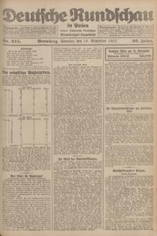 Deutsche Rundschau in Polen : früher Ostdeutsche Rundschau, Bromberger Tageblatt. Jg.46, Nr. 245 (19 November 1922) + dod.