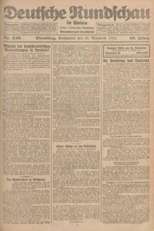Deutsche Rundschau in Polen : früher Ostdeutsche Rundschau, Bromberger Tageblatt. Jg.46, Nr. 249 (25 November 1922) + dod.