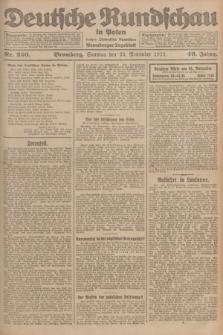 Deutsche Rundschau in Polen : früher Ostdeutsche Rundschau, Bromberger Tageblatt. Jg.46, Nr. 250 (26 November 1922) + dod.