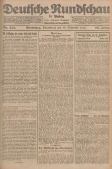 Deutsche Rundschau in Polen : früher Ostdeutsche Rundschau, Bromberger Tageblatt. Jg.46, Nr. 253 (30 November 1922) + dod.